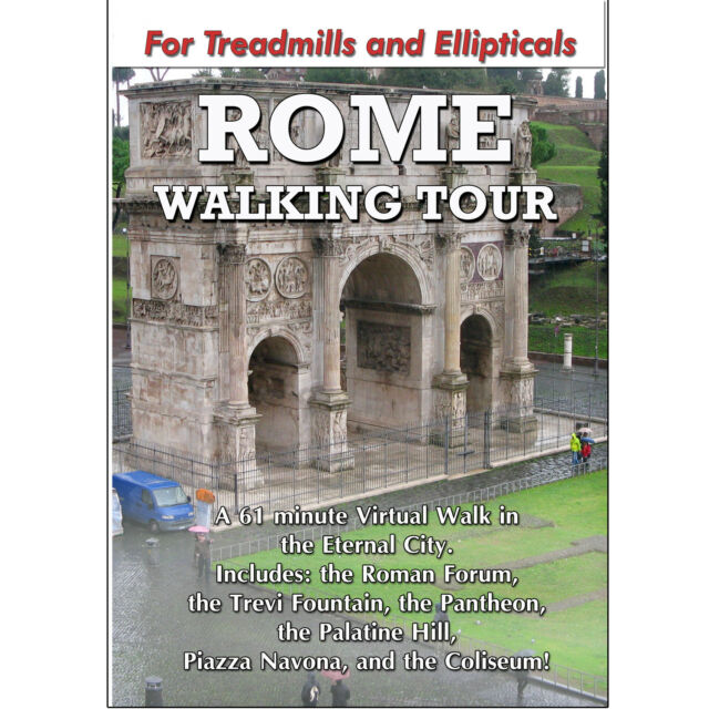 ROME WALKING TOUR TREADMILL DVD SCENERY VIDEO EXERCISE FITNESS WEIGHT LOSS