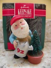 Hallmark 1992 Green Thumb Santa Garden Christmas Ornament