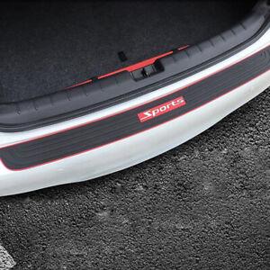 Universal-Coche-Trasera-Protector-Parachoques-Cubierta-Protector-aranazos-con-logotipo-en-rojo-Sport