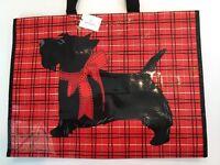 Vera Bradley Market Tote Scottie Dogs Bag Eco Reusable Shopping Sack Red