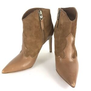 fe41afd84 Image is loading Sam-Edelman-Bradley-Women-039-s-Brown-Leather-