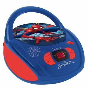 Lexibook-RCD108SP-Spiderman-Portable-Radio-Lecteur-CD-AC-amp-Batterie-Opere-Neuf