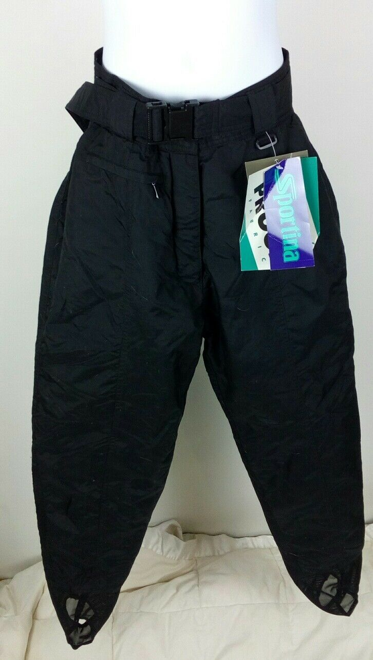 Sportina  Womens Insulated Winter stirrup Snowboard Pants Sz 6.