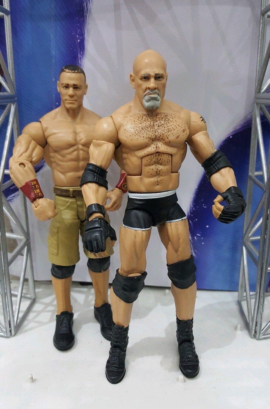 WWE MATTEL SERIES ELITE goldBERG AND JOHN JOHN JOHN CENA RAW EXCLUSIVE WRESTLING FIGURE 814