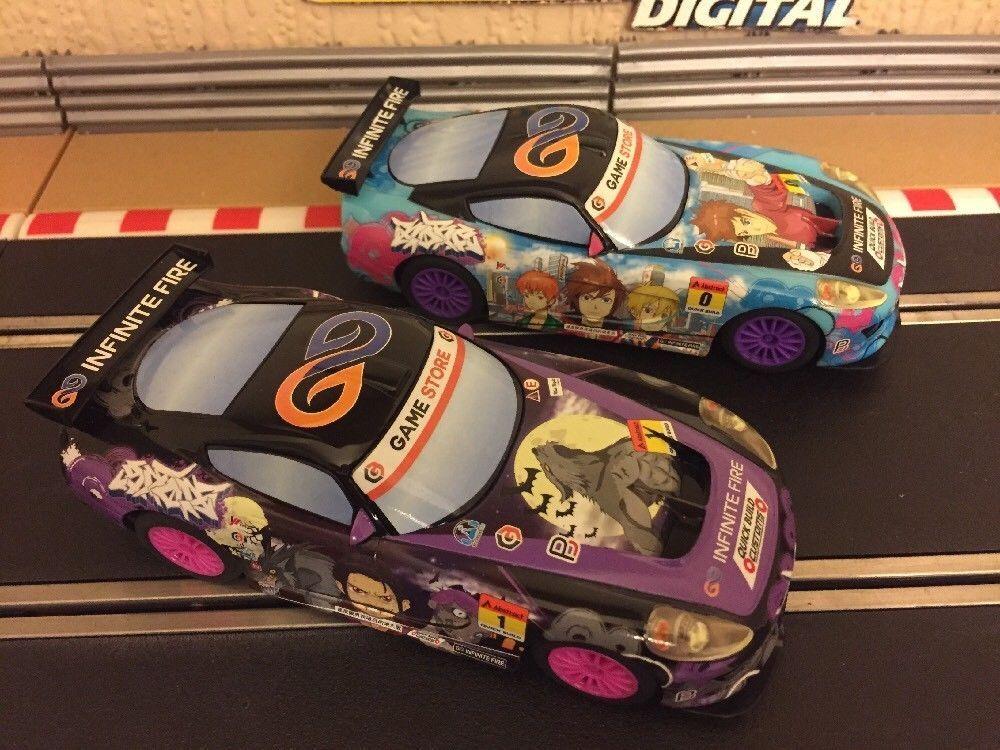 Scalextric Digital Anime Team GT GT GT Lightning Sunset & Team GT Lightning Sunrise d14b53