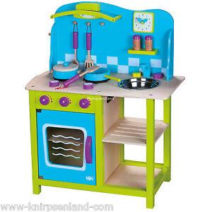 Spielküche Kinderküche Kinder Holz Küche Holzküche Spielzeugküche + ...