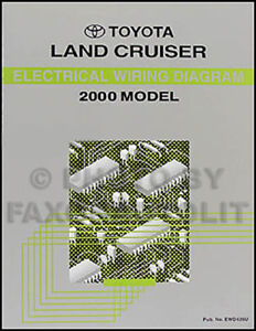 new 2000 toyota land cruiser wiring diagram manual electrical shop rh ebay ie 94 Toyota Land Cruiser Speedometer 1984 Land Cruiser Wiring-Diagram