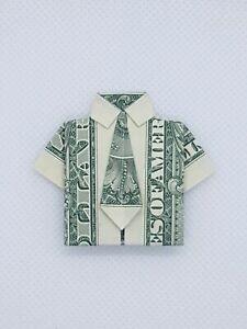 Dollar Origami Shirt & Tie Tutorial - How to fold a dollar bill in ... | 300x225