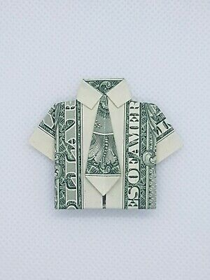 Money Origami Shirt Folding Instructions | 400x300