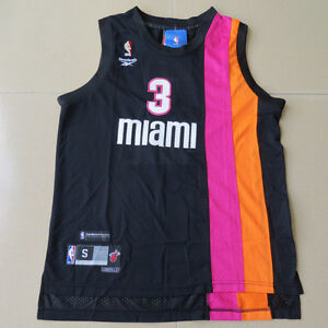 the best attitude f3f09 d0963 Details about Miami Heat Dwyane Wade swingman Floridians black jersey Size  S M L XL XXL