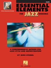 """ESSENTIAL ELEMENTS FOR JAZZ ENSEMBLE""-FLUTE MUSIC BOOK W/ONLINE ACCESS NEW SALE"