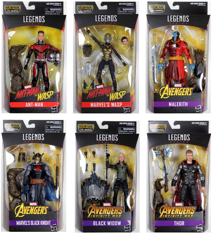 Marvel Legends  Avengers Action Figure Set avec Cull Obsidienne BAF complet