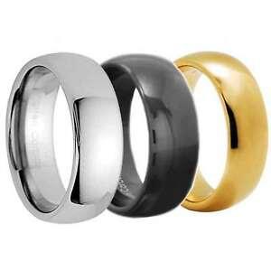 Tungsten-Carbide-Wedding-Band-Men-Women-Engagement-Bridal-Ring-Silver-Gold-Black