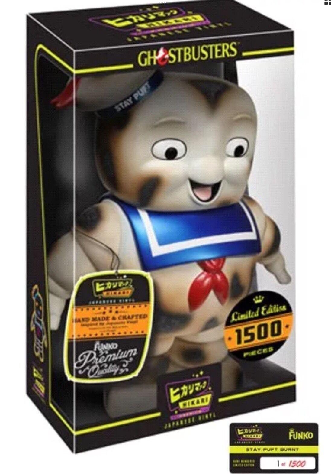 Ghostbusters FUNKO HIKARI BURNT STAY PUFT Limited Edition 1500 COA PREMIUM GIFT