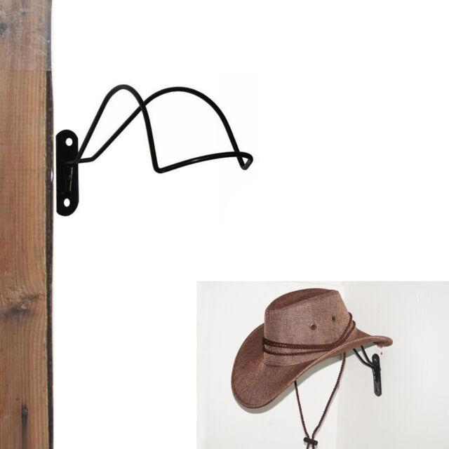 Cowboy Hat Rack Wall Mounted Coat Hook Hanger Holder Stand Home Iron Art