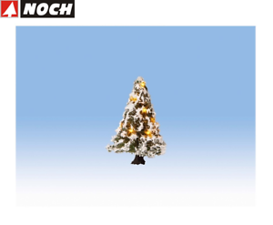 NOCH-H0-Tt-N-22110-Lighted-Christmas-Tree-Snowy-With-10-Leds-New-Boxed