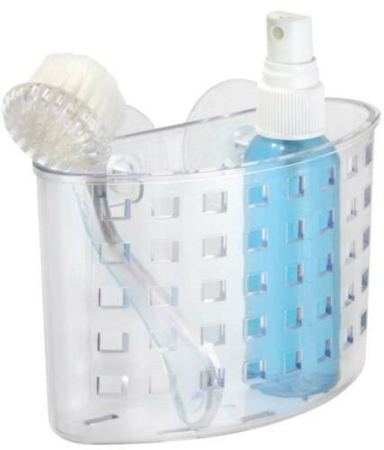 Interdesign 23500 Durable Organizer Bath Suction Plastic Clear