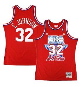 a49a07692 Magic Johnson Mitchell   Ness 1991 NBA All Star West Retro Swingman ...