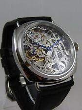 CREATION Montre coussin squelette type Unitas 6497 skeleton watch Skelettuhr