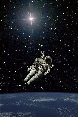 Historic Space Walk of Bruce McCandless art picture print PLUS FREE PHOTO