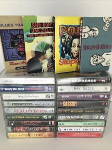 Lot-Of-22-90s-Assorted-Cassette-Tapes-Counting-Crows-Sting-Cocker-MADONNA