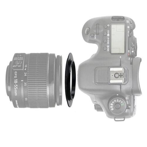 Para Canon Eos Ef Objetivo de Cámara Anillo Adaptador 49mm Metal Macro
