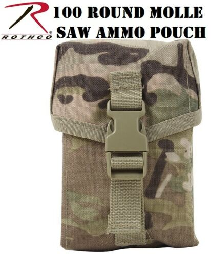 Multicam OCP Camo Military Style MOLLE II 100 Round Saw Pouch 40126 Rothco
