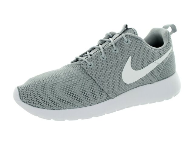 buy online 64a9e d84b4 Nike Roshe One Mens 511881-023 Wolf Grey White Mesh Running Shoes Size 9