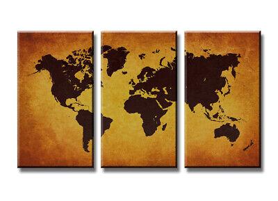 Il Migliore Quadro Su Tela Quadri Moderni Mappa Mundo 160 X 90 Cm 3 Tele Modello : Xxl 1170 Saldi Estivi Speciali