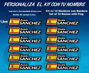Details About Pegatinas Stickers Nombres Con Bandera Casco Bici Nb01 Aufkleber Name Adesivi