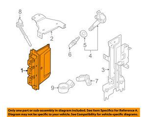 image is loading ford-oem-2011-mustang-ecm-pcm-ecu-engine-