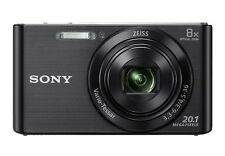 Sony DSC W830 Cyber-shot 20.1 MP Point and Shoot Camera - Black -1 Year Warranty