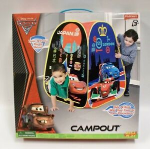 Image is loading Disney-Cars-2-Pop-Up-Play-Tent-C&out-  sc 1 st  eBay & Disney Cars 2 Pop-Up Play Tent Campout Playhut Camp 53762134018 | eBay
