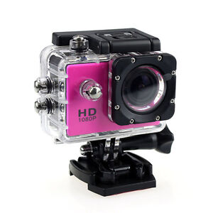 SJ4000 Full HD 1080p 12MP Sports DV Video Camera Action Helmet Camcorder Pink