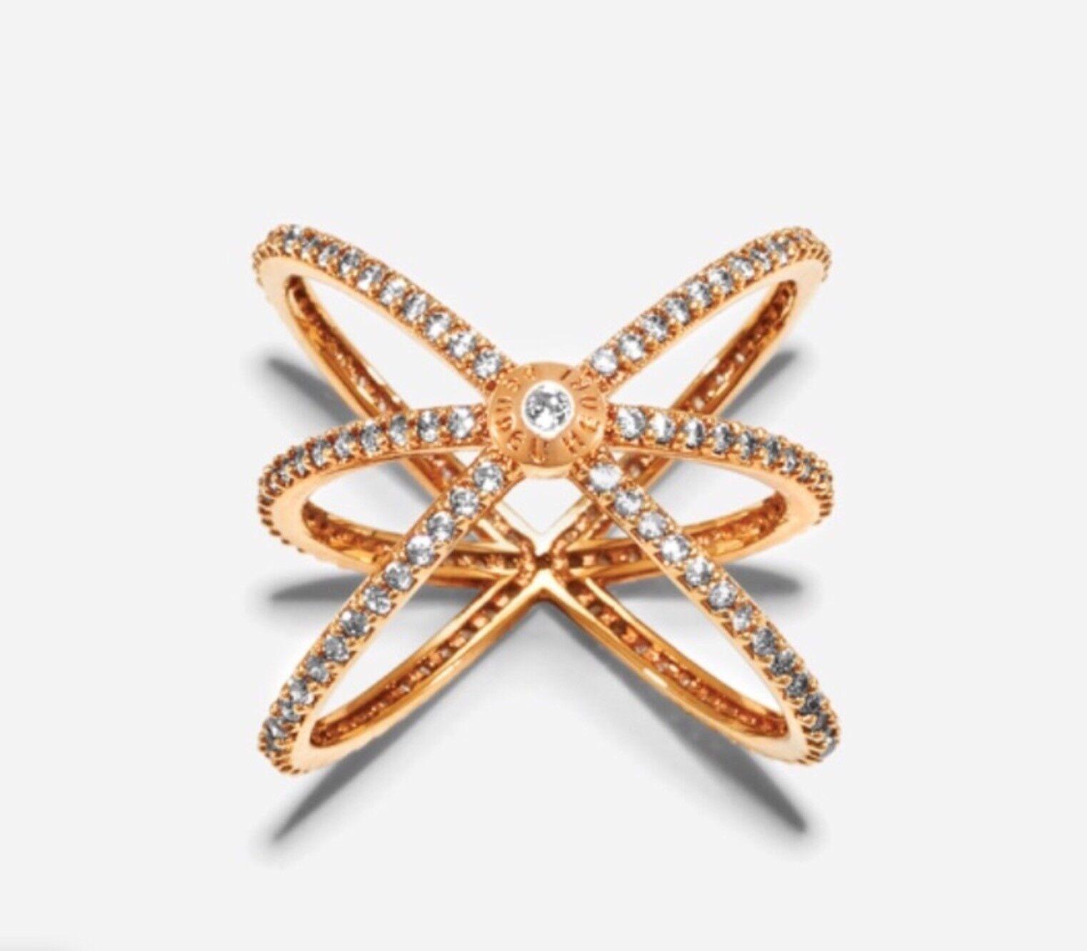 Women's Luxe Pave Orbital Cuff Ring