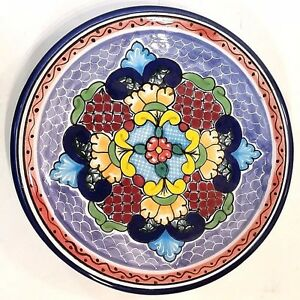 Mexican folk art decorative plate signed Hernandex, Pue Mex, Hz