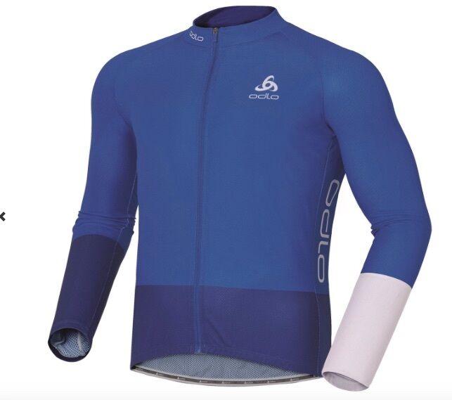 Odlo Sport Men Bici Sport Giacca Funzionale black bluee Tutte le Taglie Nuovo