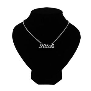 Bitch-Letter-Necklace-For-Birthday-Party-Gift-Fashion-Jewelry-Choker-Chains