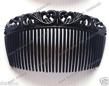 Side Hair Comb Curved Black Comb Slides Flexible Sidecomb Slides Fascinator x 3