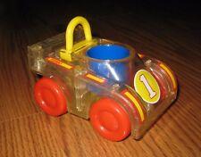 Vintage 1988 Playskool Little People PULL-BACK TURBO Race Car #1  w Gears