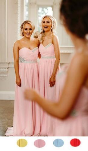 Chiffon Bridesmaid Dress Pastel Evening Maxi Maxi Wedding Party Ballgown Prom