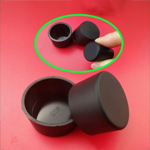 Round Silicone Rubber End Cover Caps Blanking For Pipe Tube Black 32.5mm~78.5mm