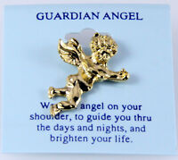 6030106 Guardian Angel Lapel Pins Brooch Tie Tack Pin Christian Religious Jew... on Sale