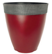 265 litre silver large plant pot round tall plastic planter outdoor 264l gala burgundy large plant pot tall round plastic planter outdoor garden workwithnaturefo