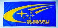 SUBARU FLAG RALLY TEAM BLUE - SIZE 150x75cm (5x2.5 ft) - BRAND NEW