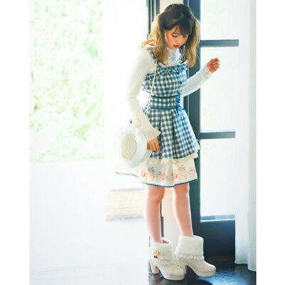 LIZ LISA - Perfume bottle gingham check Jumper skirt