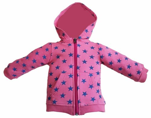 Red hoodie with stars for baby girl from age 3-24 months 100/% Cotton