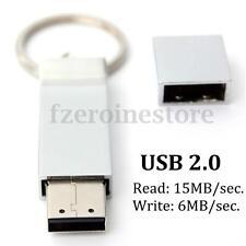 64GB 64G USB2.0 Silver Metal Flash Memory Stick Storage Thumb Pen Drive Keychain