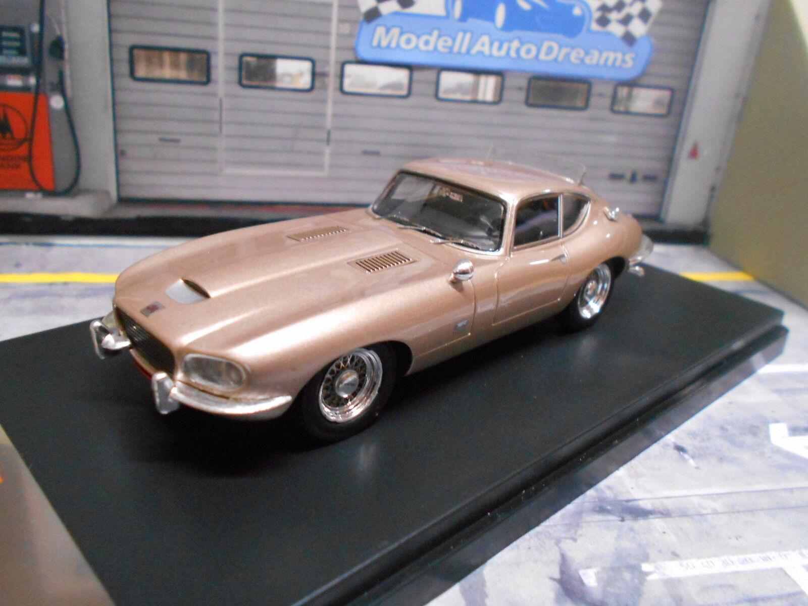 Jaguar E-Type Coupe  Loewy  champán met 1966 Ixo premium x rar 1 43
