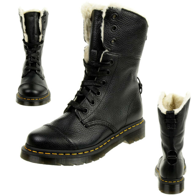 Dr.Martens Ladies Aimilita High Boots Biker Boots Padded Black
